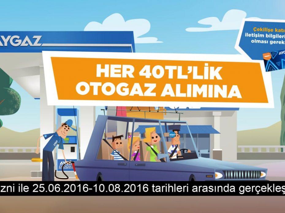 Aygaz 1000 TL Otogaz Çekiliş Kampanyası